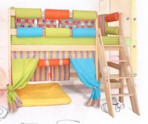Шторки для кровати чердака
